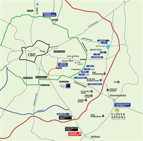 map assetz greens clover location villas east bangalore sarjapur road