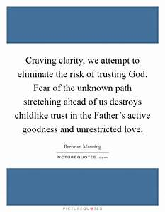 Craving clarity, we attempt to eliminate the risk of ...