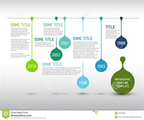 Colorful Infographic Timeline Report Template With Drops Simple Infographic Poster Vector Cdr Generator Maker Adobe For Powerpoint Movement Design Tutorial Illustrator Process