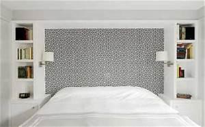 du papier peint design pour fabriquer une tete de lit With beautiful palette de couleur peinture murale 8 diy une palette en bois transformee en deco murale