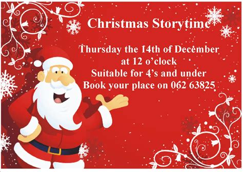 christmas stories for boss storytime in cashel library tipperary library