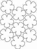 Paper Flowers Hawaiian Flower Template Lei Templates Pattern Leis Hibiscus Coloring Cut Luau Petal Patterns Flores Ray Moldings sketch template