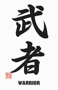 Martial Arts Accessories Poster Kanji Warrior