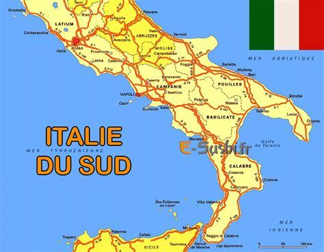 Carte Sud De Et Italie infos sur carte italie sud arts et voyages