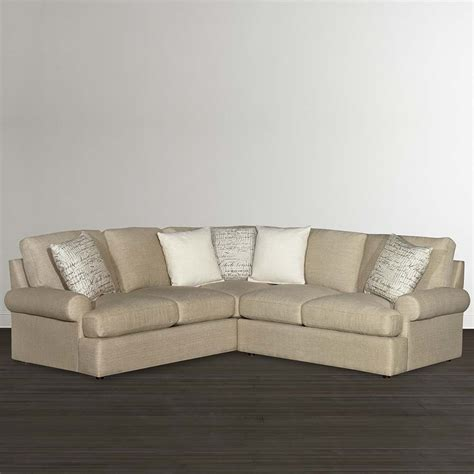 l shaped sectional sofa casual tan l shaped sectional bassett home furnishings