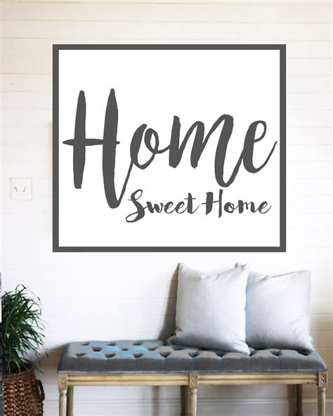 home interior pictures wall decor home sweet home farmhouse sign rustic wall decor walls of wisdom