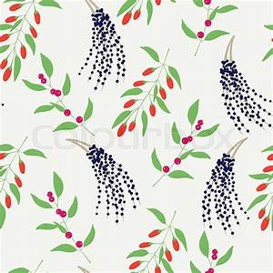 Seamless Plant Background  Endless Vector Pattern With