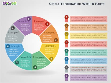 Free Infographic Resume Template Powerpoint by Circle Infographic With 8 Parts For Powerpoint