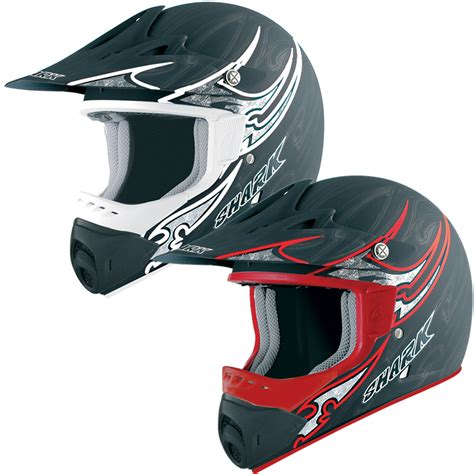 motocross crash helmets shark sx1 black one mx enduro dirt bike off road moto x
