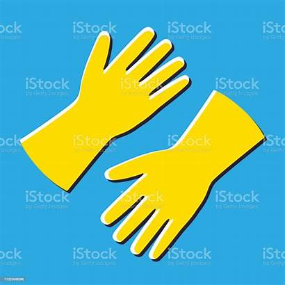 Gloves Rubber Cartoon Cleaning Cleaner Care