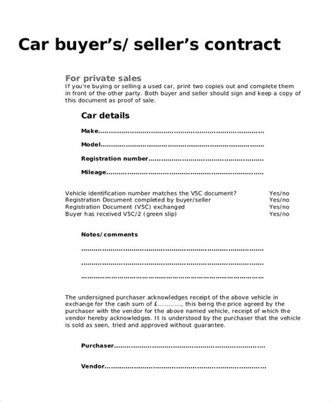 sample purchase agreement forms  word  pages