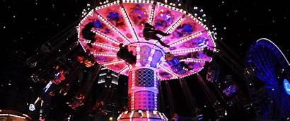 Carnival Rides Marina While Bay Ride Swing