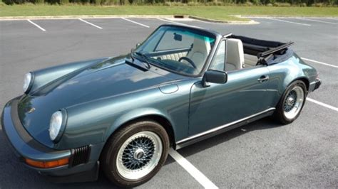 blue porsche convertible porsche 911 convertible 1987 venetian blue for sale