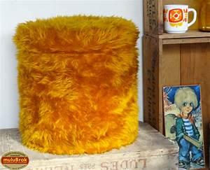Objet Vintage Deco : objet vintage pouf moumoute orange 70 39 s l 39 authentique ~ Teatrodelosmanantiales.com Idées de Décoration