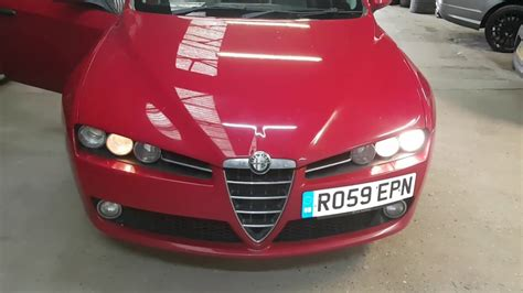 replace headlight bulb  alfa romeo  youtube