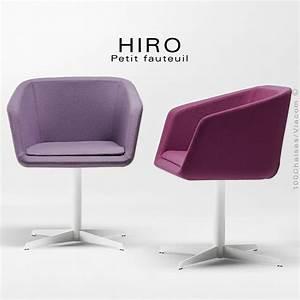 Fauteuil Design Confortable : fauteuil design confortable hiro pied colonne centrale acier chrom assise garnie habillage ~ Teatrodelosmanantiales.com Idées de Décoration