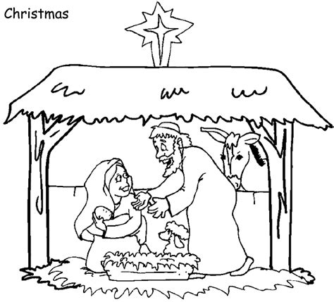 Christmas Coloring Pages Printable Sunday School
