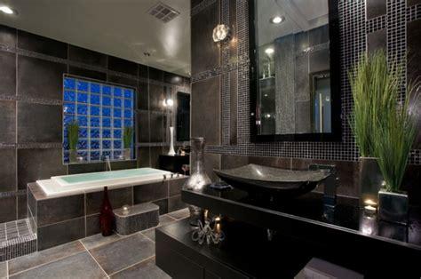 Badezimmer Modern Schwarz 38 beispiele f 252 r badezimmer in schwarz archzine net