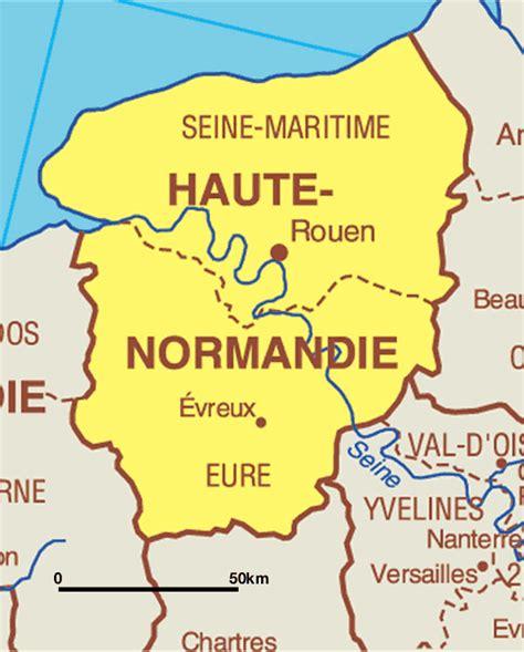 Carte Haute Normandie by Kaart Frankrijk Departementen Regio S Kaart Normandi 235