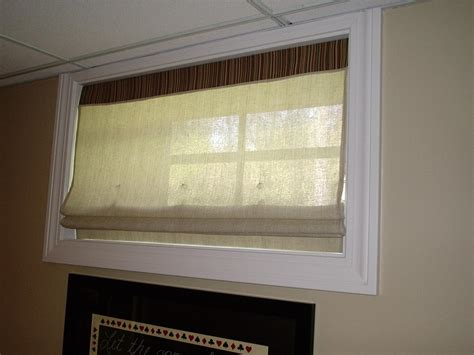 matching basement window curtains design with your room