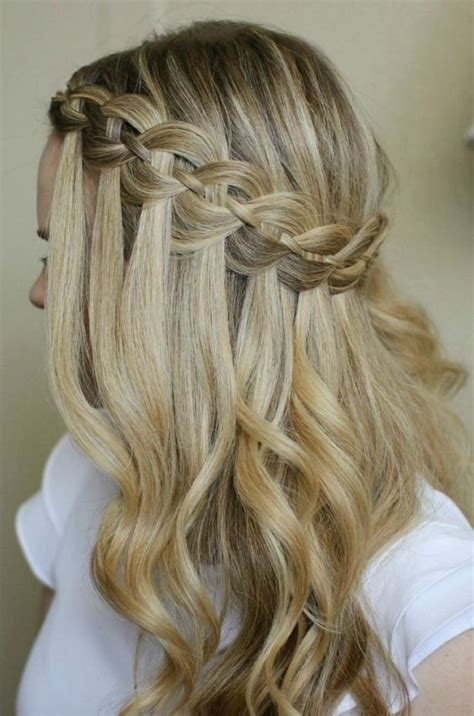 Pretty Hairstyles by 10 Pretty Waterfall Braid Hairstyles 2019