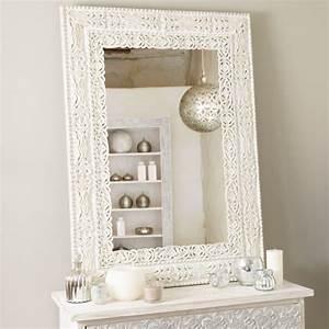 Miroir Baroque Maison Du Monde : miroir bhopal blanc maisons du monde ~ Melissatoandfro.com Idées de Décoration