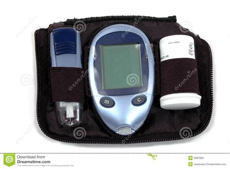 diabetes testing kit royalty  stock images image