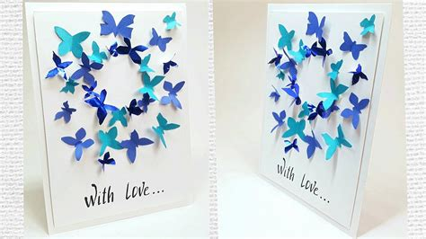 butterfly greeting card design making ideas tutorial easy