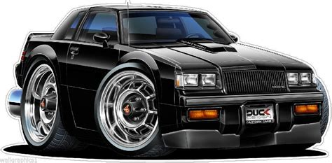 1987 Buick Grand National Gn Cartoon Car Wall Decal Home