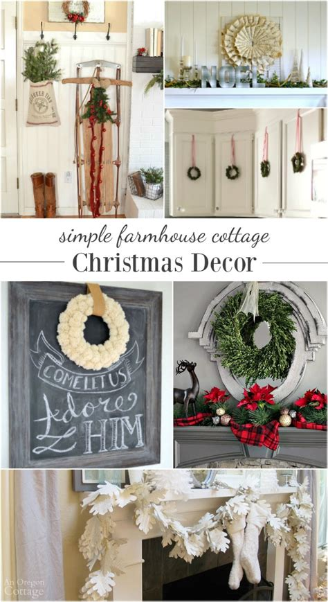 simple farmhouse cottage christmas decorating ideas