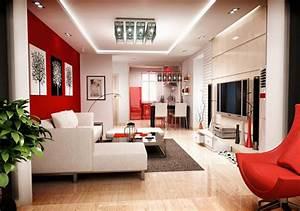 Une Dco De Salon Avec Du Temprament Chaud En Rouge