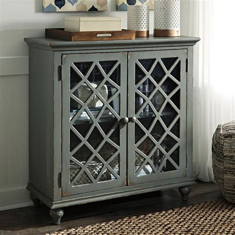 mirimyn antique gray accent cabinet accent chests