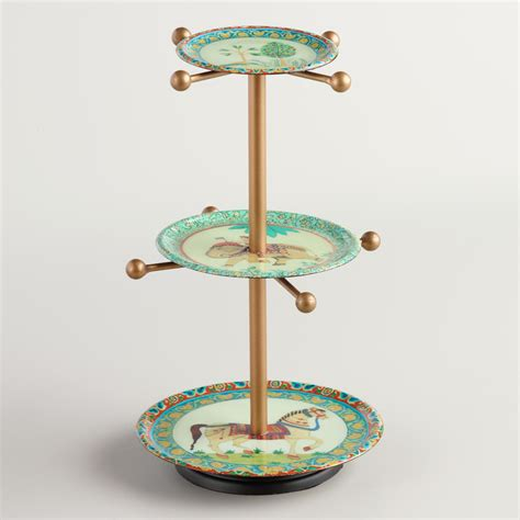 Aztec 3tier Jewelry Stand With Knobs  World Market