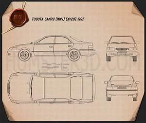 Toyota Camry  Xv20  1997 Blueprint