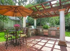 pergola outdoor kitchen outdoor kitchen ideas 10 With outdoor kitchen designs with pergolas