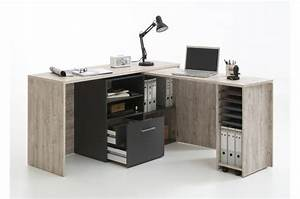 bureau d39angle retractable avec rangements jill design sur With bureau d angle avec surmeuble