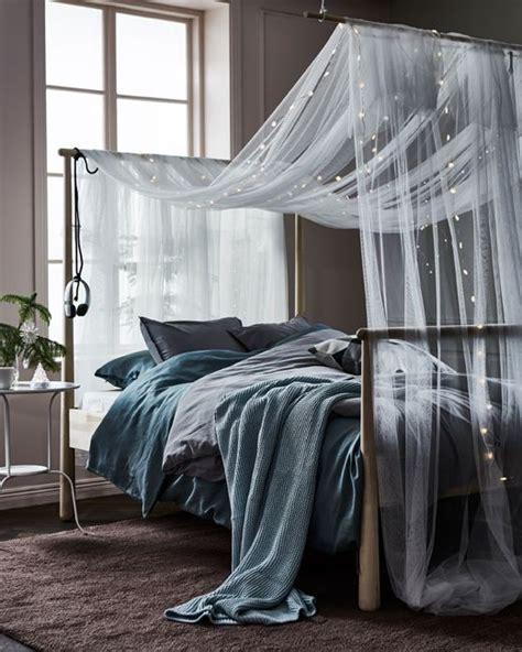 Lichterkette Ikea Bett by Die Besten 25 Schlafzimmer Lichterkette Ideen Auf