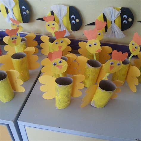 crafts actvities and worksheets for preschool toddler and 677   toilet paper roll chicken craft