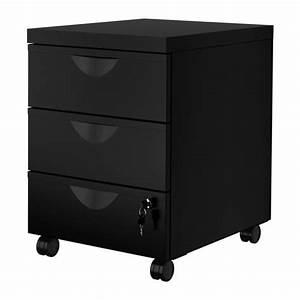 Caisson Bureau Noir : erik caisson 3 tiroirs sur roulettes noir ikea ~ Teatrodelosmanantiales.com Idées de Décoration