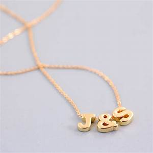 triple mini letter necklace by js jewellery With letter necklace a