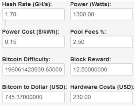 bitcoin profit bitcoin calculator profit bitcoin mining calculator and