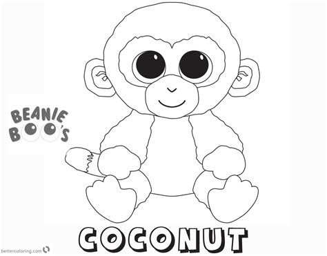 coloring boo beanie boo coloring pages coconut free printable