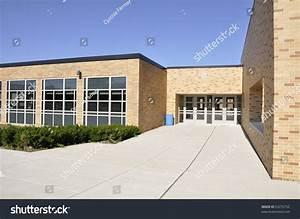 Entry Doors Modern School Building School Stock Photo ...