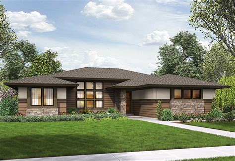 bed modern prairie ranch house plan  architectural designs house plans