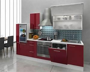Küche Oberschrank Höhe : respekta premium einbau k che k chenzeile 280cm weiss rot hochglanz ceran umluft ebay ~ Markanthonyermac.com Haus und Dekorationen
