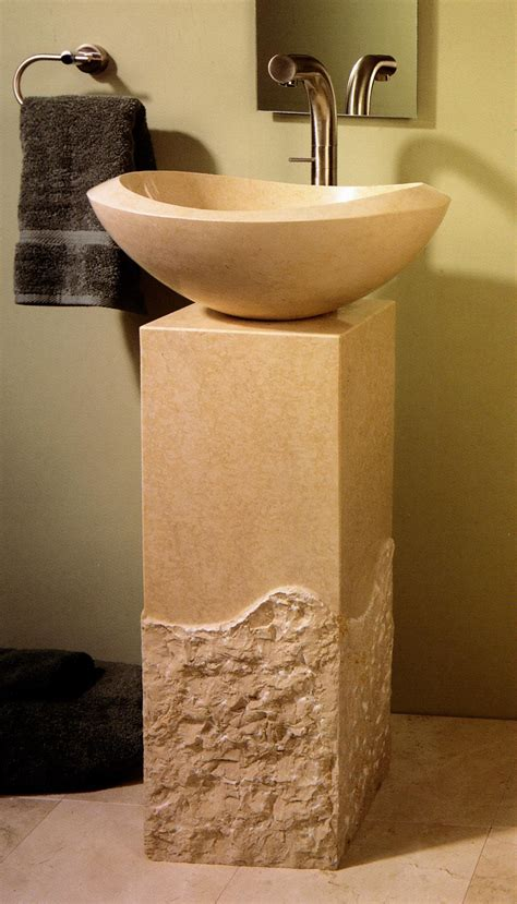 stone forest roma pedestal bath sink  home stone