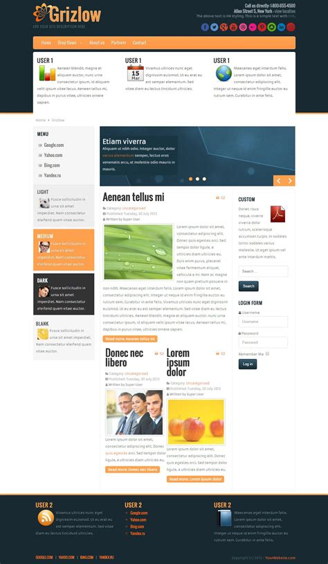 businees 2 joomla template grizlow professional business joomla free theme