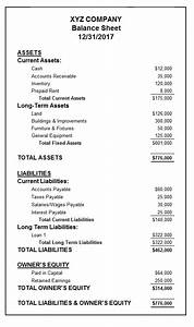 Nice Basic Balance Sheet Template Images - Example Resume ...