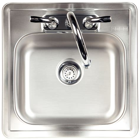 shop kindred essential 15 in x 15 in satin single basin