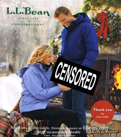 Meme Catalog - unnecessary censorship makes this l l bean 2007 christmas catalog shattered journey